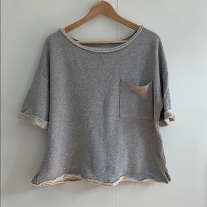 Splendid | Grey Cropped Sweatshirt